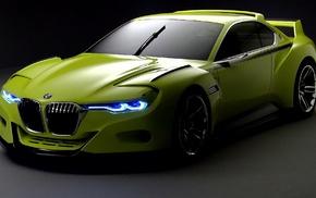 green cars, BMW, car