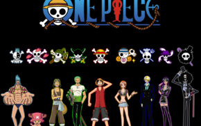 Monkey D. Luffy, Nico Robin, Usopp, Tony Tony Chopper, One Piece, anime