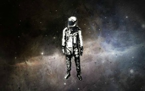 Yuri Gagarin, digital art, astronaut, space, Alex Cherry