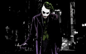 Joker, knife, Batman Begins, painting, digital art, butterfly knives
