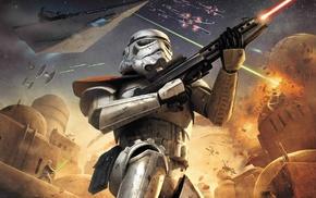 Star Wars, Star Wars Battlefront, stormtrooper, video games, digital art