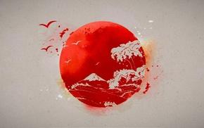 Japanese, Sun, drawing