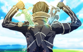 Sword Art Online, anime boys, sword, Kirigaya Kazuto