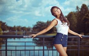 Asian, brunette, portrait, girl, model
