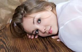 brunette, model, Jeff Milton, girl, lying down