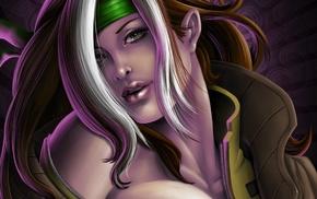 Rogue character, X, Men, fantasy art, Rogue