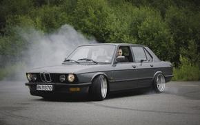 Stanceworks, car, BMW E28, Stance, low, summer