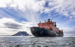 ship, Arctic, nuclear, Rosatom, Nuclear, powered icebreaker