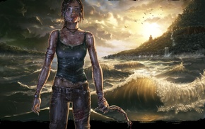 Tomb Raider, artwork, Lara Croft