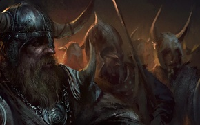fantasy art, Vikings, artwork