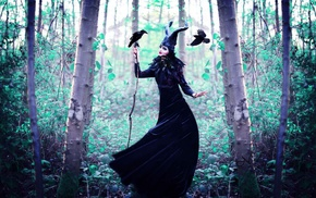 cosplay, fantasy art, witch, spooky, girl