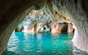 cathedral, water, nature, landscape, Chile, cave