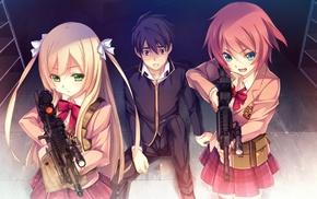 anime vectors, Yasouji Ai, Kanzaki Sayaka, anime, Innocent Bullet, anime girls