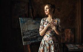 portrait, model, girl