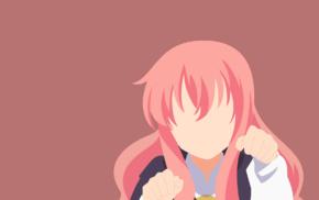 anime girls, Zero no Tsukaima, Louise Franoise Leblanc de la Vallire, minimalism, anime