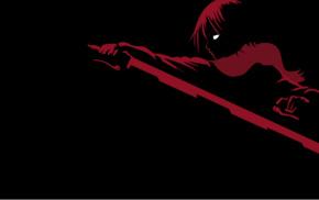 minimalism, Shingeki no Kyojin, Mikasa Ackerman, anime, anime girls