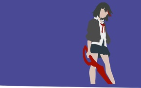 anime girls, minimalism, anime, Kill la Kill