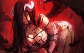 anime girls, anime, Overlord anime, Albedo OverLord, horns
