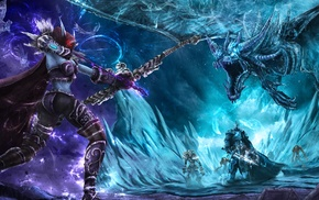 World of Warcraft, dragon, Lich King, archers, heroes of the storm, Sylvanas Windrunner