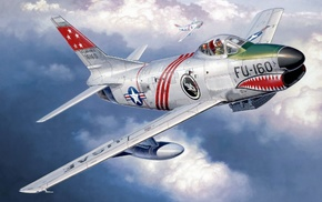 artwork, painting, Jet, F, 86 D Sabre, military
