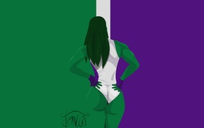 minimalism, She, Hulk, artwork