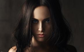 face, girl, portrait, brunette