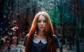 redhead, portrait, girl, model, face