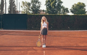 sports, blonde, tennis, girl