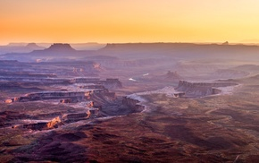 canyon, Grand Canyon, mist, desert, erosion, USA
