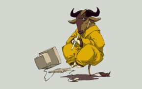 Linux, animals, GNU