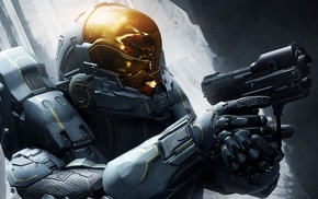 video games, Halo 5, gun, Kelly, 087, soldier
