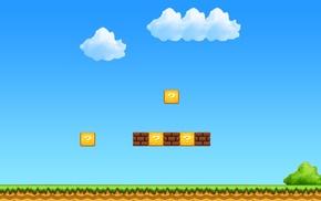 Super Mario, simple background