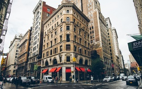 building, cityscape, street, New York City