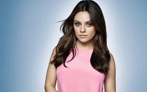 girl, celebrity, brunette, Mila Kunis, brown eyes, actress