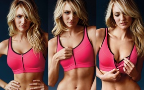 bra, blonde, belly, sports bra, girl, hands on hips