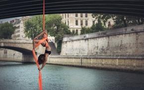 girl, bridge