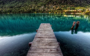 water, stones, HDR, wood, calm, nature