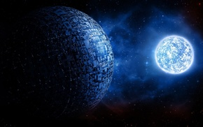 science fiction, sphere, universe, ball, planet, glowing
