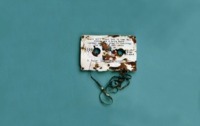 digital art, tape, destruction, text, minimalism, vintage