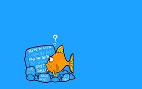 humor, fish, text