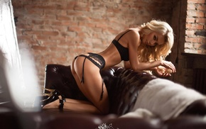 ass, lingerie, miss fiksa, garter belt, blonde, high heels