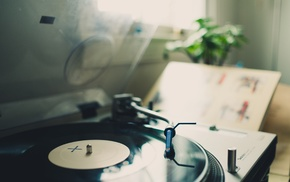 vinyl, record players, depth of field, photography