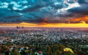 cityscape, landscape, panoramas, urban, skyscraper, sunset