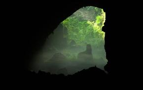 landscape, nature, cave