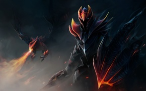 Dota 2, dragon, fantasy art, Dragon Knight