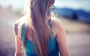 model, glasses, Teravena Sugimoto, girl outdoors