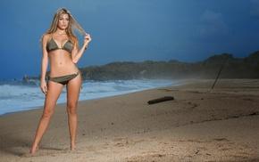 Carolina Henao, model, blonde, bikini, beach