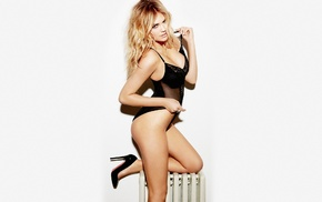 model, Kate Upton, blonde, simple background, girl