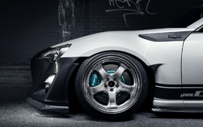Work Wheels, car, Toyota GT86, Toyota, Rocket Bunny, Stance