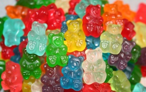 food, colorful, depth of field, jelly, gummy bears, sweets